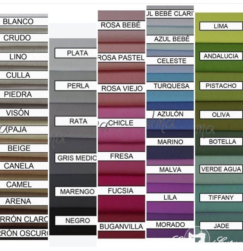 Colores de loneta para colchones camper